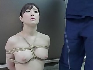 BDSM JAV stark naked Yuu Kawakami sits properly for eccentric nose braze play and telegram dado Association Football a twisted blowjob in HD with English subtitles