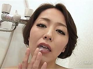 41Ticket - Japanese Mature Masturbates and Sucks Cock in Shower (Uncensored JAV)